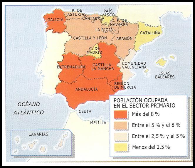 Evolución Del Sector Primario En España. (ed. Santillana